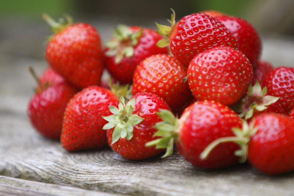 healthy strawberries